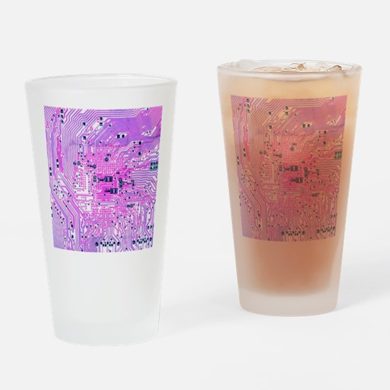 Circuit Board - Purple Drinking Glass