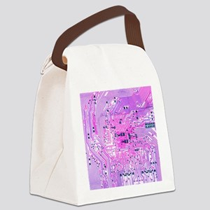 Circuit Board - Purple Canvas Lunch Bag