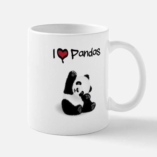 I Heart Pandas Mugs