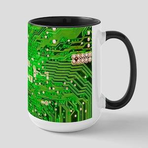Circuit Board - Green Large Mug