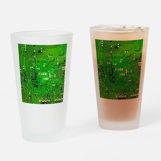 Circuit Board - Green Drinking Glass