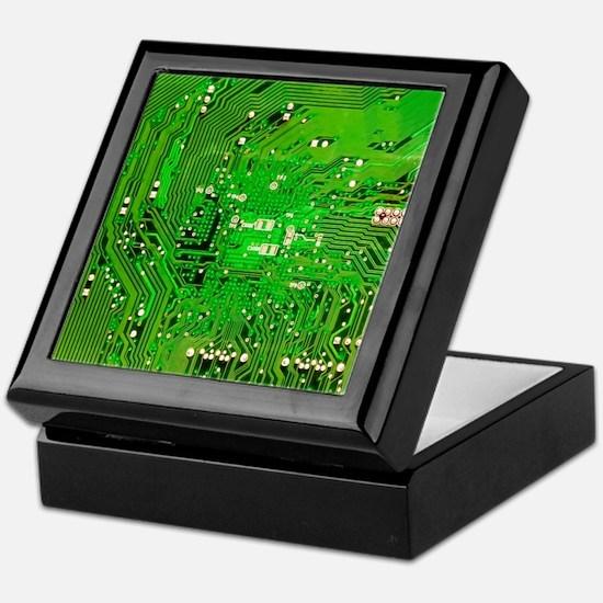 Circuit Board - Green Keepsake Box