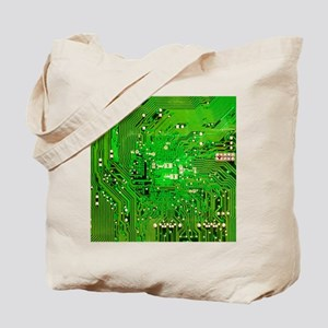 Circuit Board - Green Tote Bag