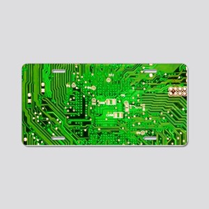 Circuit Board - Green Aluminum License Plate