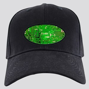 Circuit Board - Green Black Cap