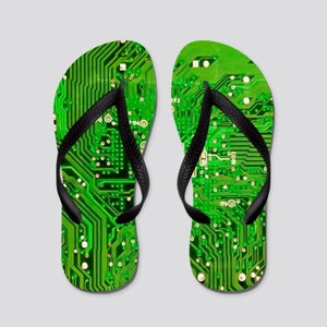 Circuit Board - Green Flip Flops