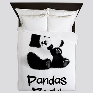 Panda's Rock! Queen Duvet