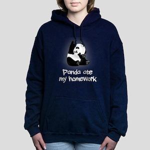 Baby Panda Women's Hooded Sweatshirt