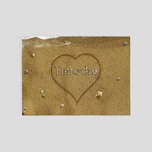 Timothy Beach Love 5'x7'Area Rug