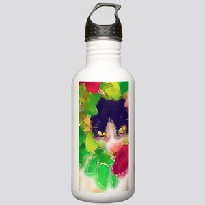 Cat and Roses Stainless Water Bottle 1.0L
