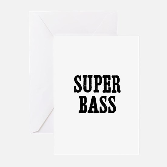 super bass Greeting Cards (Pk of 10)