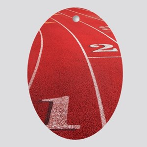 Track lanes Oval Ornament
