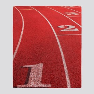 Track lanes Throw Blanket