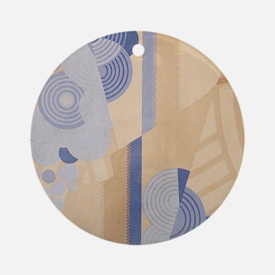 Art Deco Abstract Round Ornament