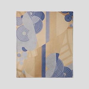 Art Deco Abstract Throw Blanket
