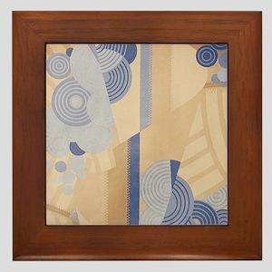 Art Deco Abstract Framed Tile