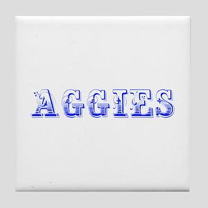 Aggies-Max blue 400 Tile Coaster