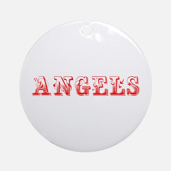 angels-Max red 400 Ornament (Round)