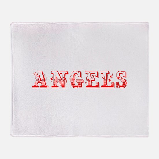 angels-Max red 400 Throw Blanket