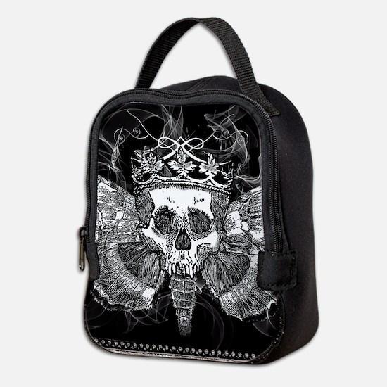vintage mothman skull Neoprene Lunch Bag