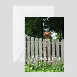 """""""Missing You"""" Card Greeting Cards"""