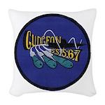 USS GUDGEON Woven Throw Pillow