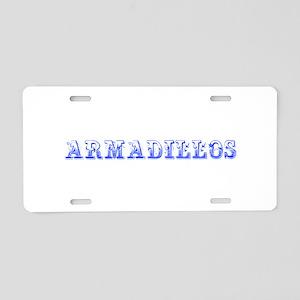 Armadillos-Max blue 400 Aluminum License Plate