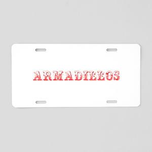 Armadillos-Max red 400 Aluminum License Plate