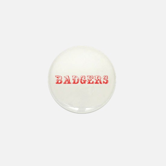 Badgers-Max red 400 Mini Button