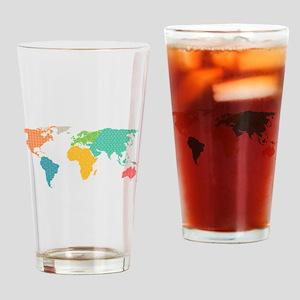 world map Drinking Glass