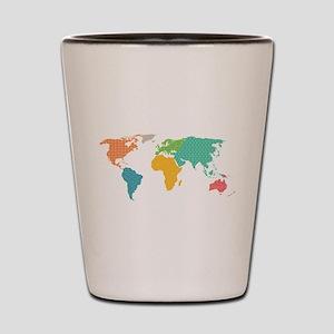 world map Shot Glass