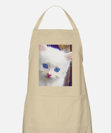 Blue-Eyed Kitten Apron