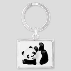 Baby Panda Landscape Keychain