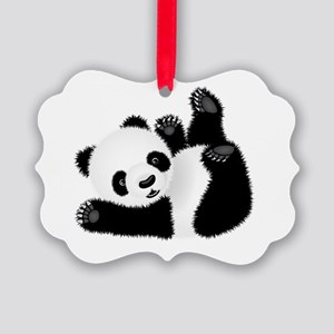 Baby Panda Picture Ornament