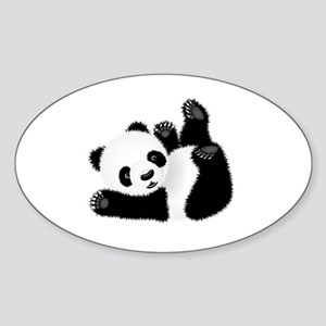 Baby Panda Sticker (Oval)