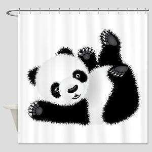 Baby Panda Shower Curtain