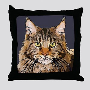 Majestic Cat Throw Pillow