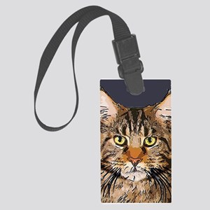 Majestic Cat Large Luggage Tag