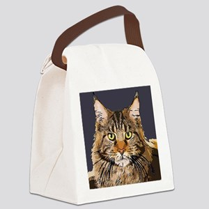 Majestic Cat Canvas Lunch Bag