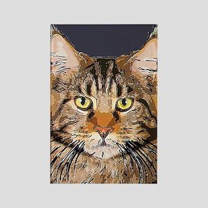 Majestic Cat Rectangle Magnet