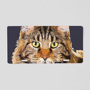 Majestic Cat Aluminum License Plate