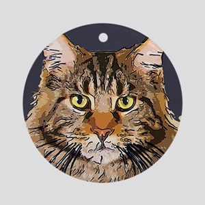 Majestic Cat Ornament (Round)