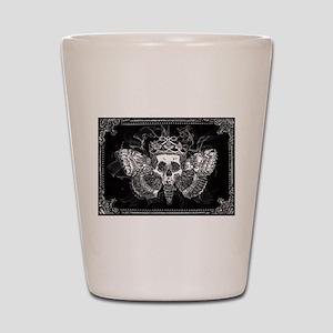 vintage mothman skull Shot Glass