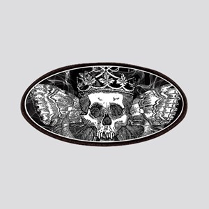 vintage mothman skull Patch