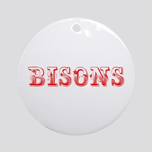 bisons-Max red 400 Ornament (Round)