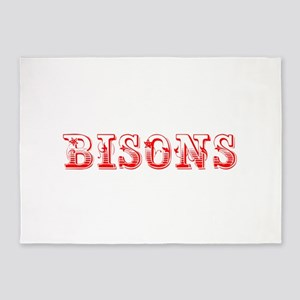 bisons-Max red 400 5'x7'Area Rug
