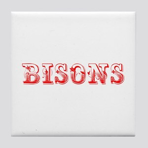 bisons-Max red 400 Tile Coaster