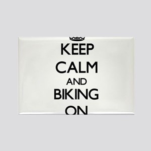 Keep Calm and Biking ON Magnets