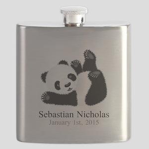 CUSTOM Baby Panda w/Name Birthdate Flask