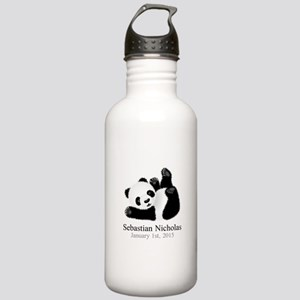 CUSTOM Baby Panda w/Name Birthdate Water Bottle